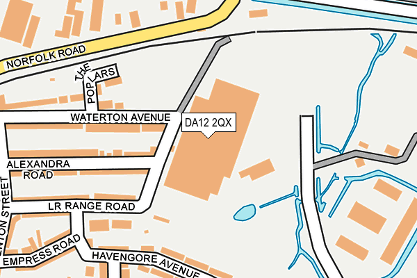 DA12 2QX map - OS OpenMap – Local (Ordnance Survey)