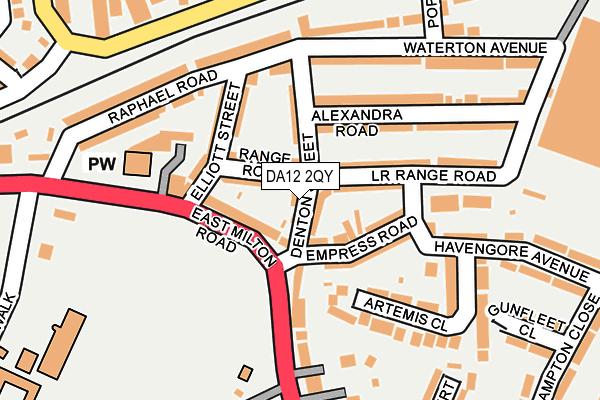 DA12 2QY map - OS OpenMap – Local (Ordnance Survey)