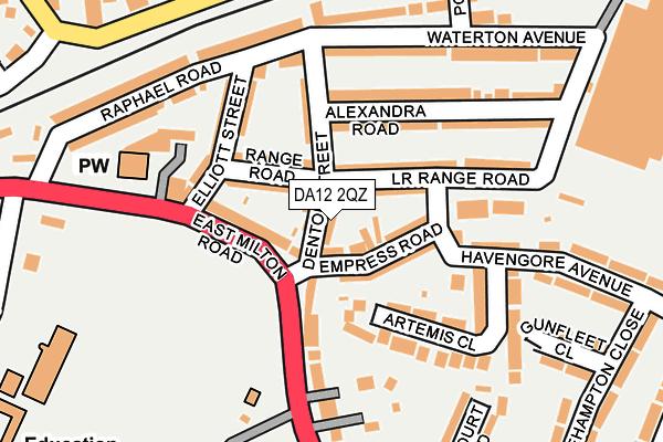 DA12 2QZ map - OS OpenMap – Local (Ordnance Survey)