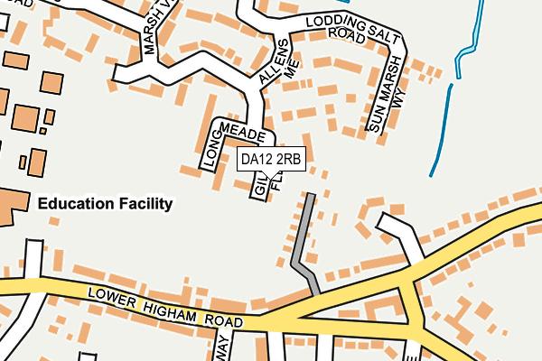 DA12 2RB map - OS OpenMap – Local (Ordnance Survey)