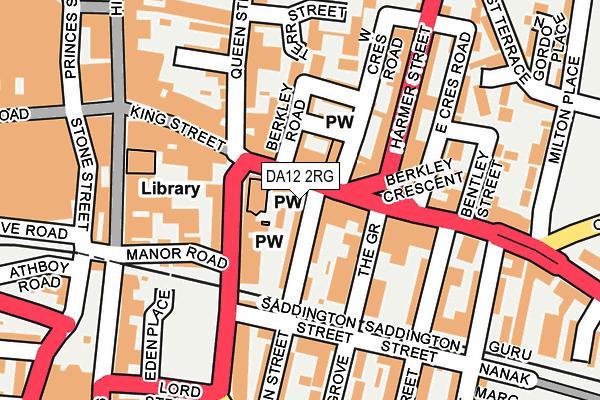 DA12 2RG map - OS OpenMap – Local (Ordnance Survey)