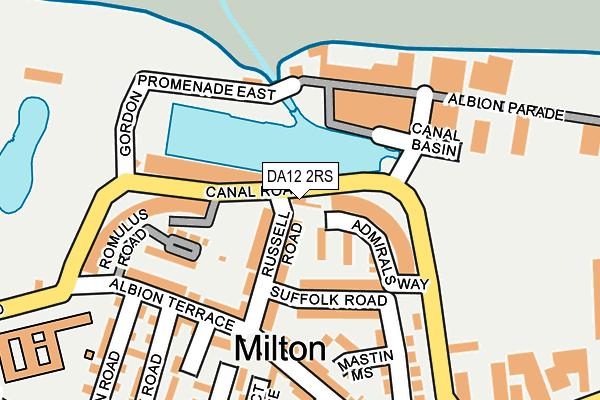 DA12 2RS map - OS OpenMap – Local (Ordnance Survey)