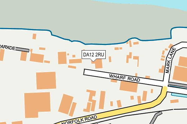 DA12 2RU map - OS OpenMap – Local (Ordnance Survey)