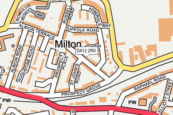 DA12 2RX map - OS OpenMap – Local (Ordnance Survey)