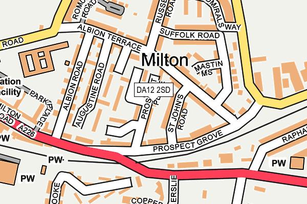DA12 2SD map - OS OpenMap – Local (Ordnance Survey)