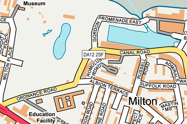 DA12 2SF map - OS OpenMap – Local (Ordnance Survey)