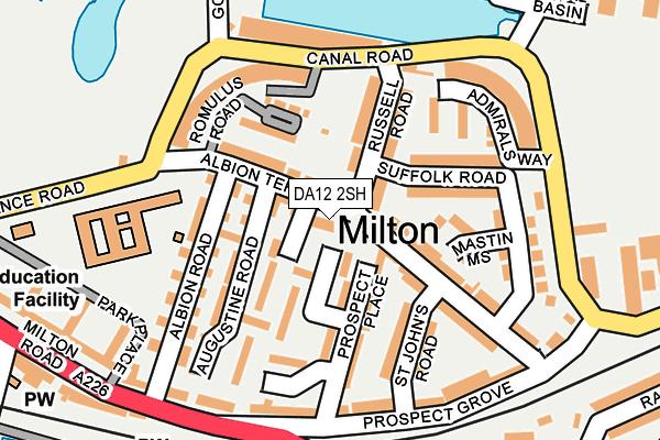 DA12 2SH map - OS OpenMap – Local (Ordnance Survey)