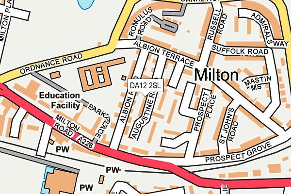 DA12 2SL map - OS OpenMap – Local (Ordnance Survey)