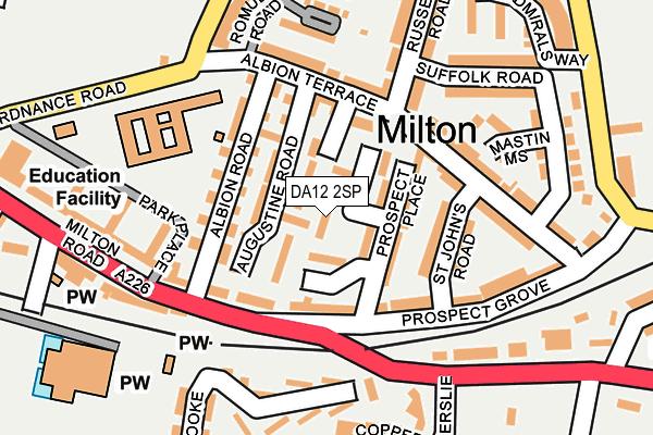 DA12 2SP map - OS OpenMap – Local (Ordnance Survey)