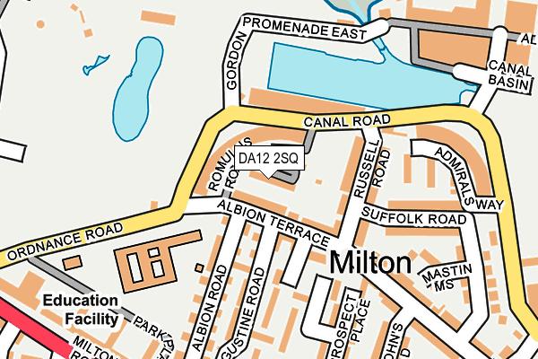 DA12 2SQ map - OS OpenMap – Local (Ordnance Survey)