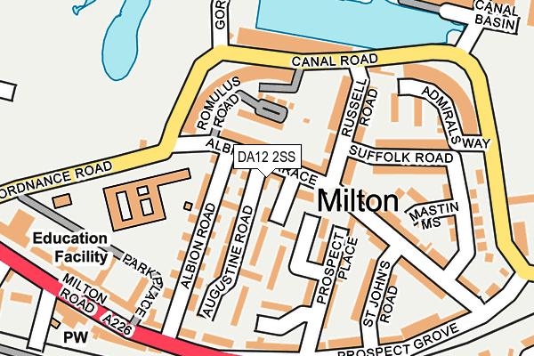 DA12 2SS map - OS OpenMap – Local (Ordnance Survey)