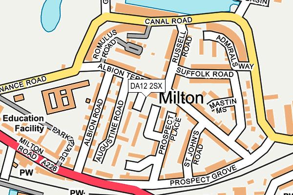 DA12 2SX map - OS OpenMap – Local (Ordnance Survey)
