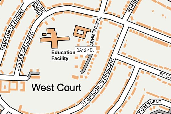 DA12 4DJ map - OS OpenMap – Local (Ordnance Survey)