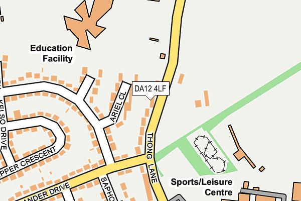 DA12 4LF map - OS OpenMap – Local (Ordnance Survey)