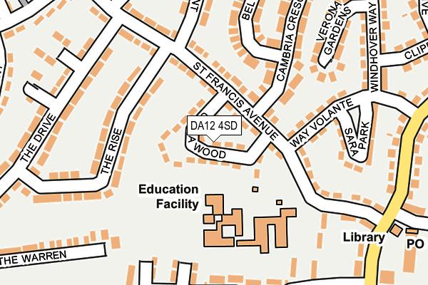 DA12 4SD map - OS OpenMap – Local (Ordnance Survey)