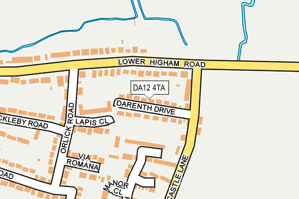 DA12 4TA map - OS OpenMap – Local (Ordnance Survey)