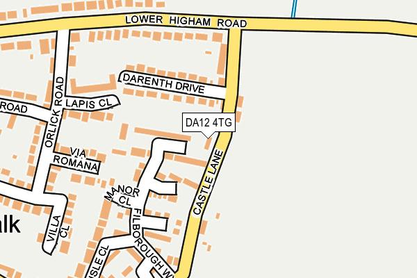 DA12 4TG map - OS OpenMap – Local (Ordnance Survey)