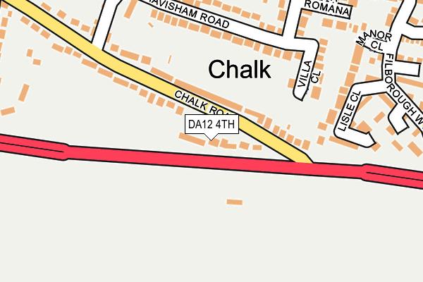 DA12 4TH map - OS OpenMap – Local (Ordnance Survey)