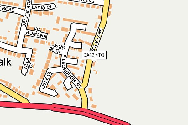 DA12 4TQ map - OS OpenMap – Local (Ordnance Survey)