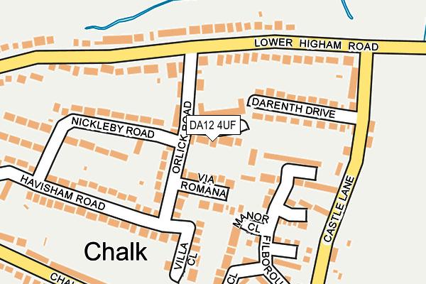 DA12 4UF map - OS OpenMap – Local (Ordnance Survey)