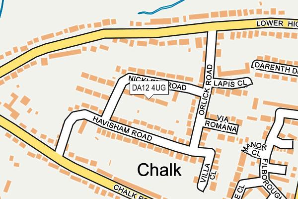 DA12 4UG map - OS OpenMap – Local (Ordnance Survey)