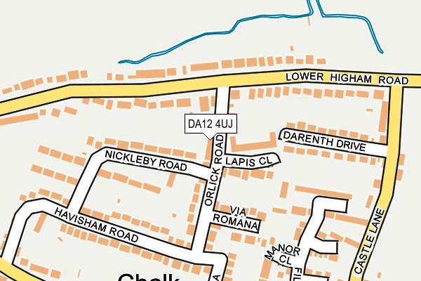 DA12 4UJ map - OS OpenMap – Local (Ordnance Survey)