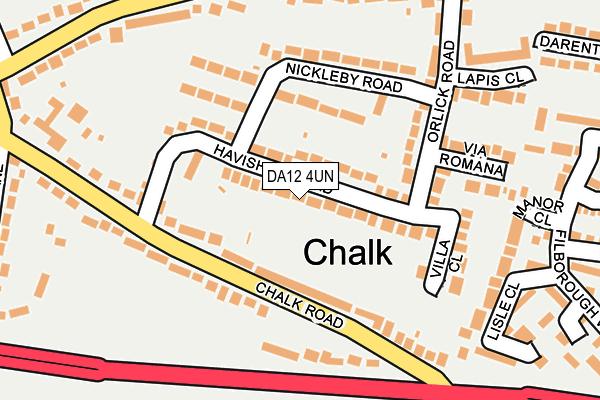DA12 4UN map - OS OpenMap – Local (Ordnance Survey)