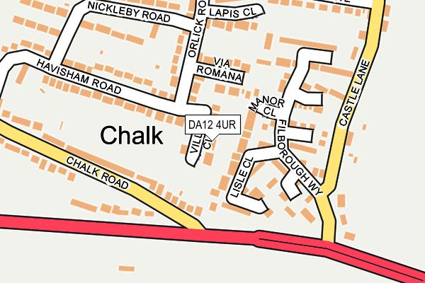 DA12 4UR map - OS OpenMap – Local (Ordnance Survey)