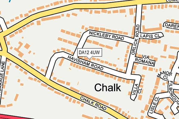 DA12 4UW map - OS OpenMap – Local (Ordnance Survey)