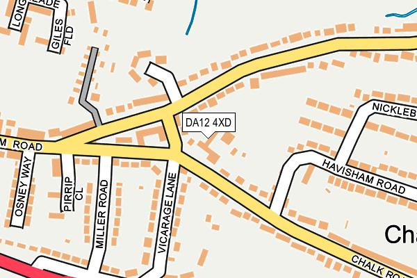 DA12 4XD map - OS OpenMap – Local (Ordnance Survey)