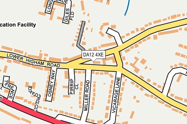 DA12 4XE map - OS OpenMap – Local (Ordnance Survey)
