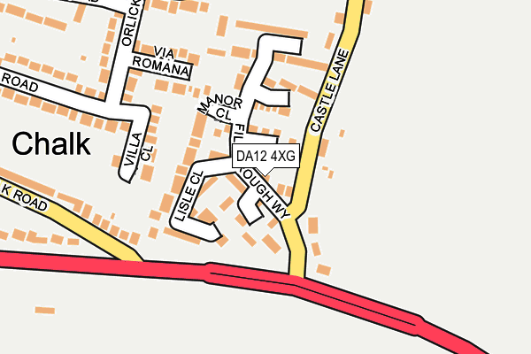 DA12 4XG map - OS OpenMap – Local (Ordnance Survey)