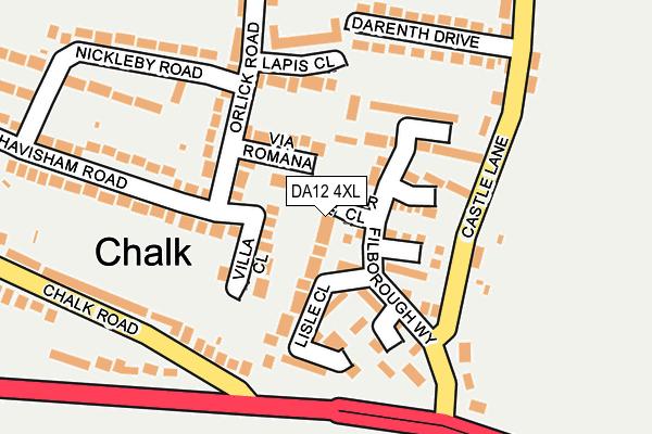DA12 4XL map - OS OpenMap – Local (Ordnance Survey)