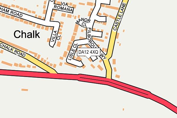 DA12 4XQ map - OS OpenMap – Local (Ordnance Survey)