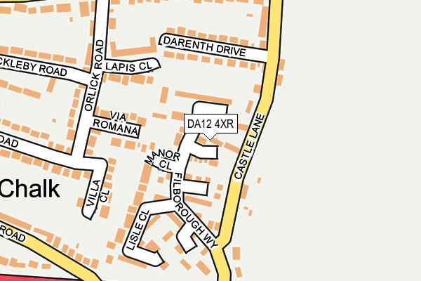 DA12 4XR map - OS OpenMap – Local (Ordnance Survey)