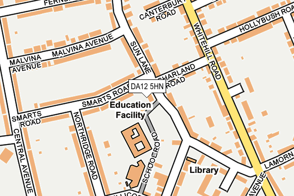 DA12 5HN map - OS OpenMap – Local (Ordnance Survey)