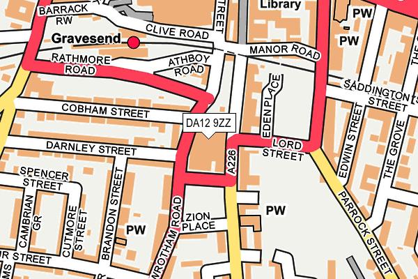 DA12 9ZZ map - OS OpenMap – Local (Ordnance Survey)