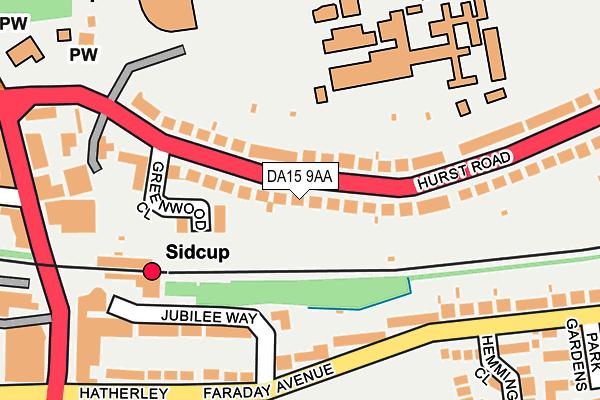 DA15 9AA map - OS OpenMap – Local (Ordnance Survey)