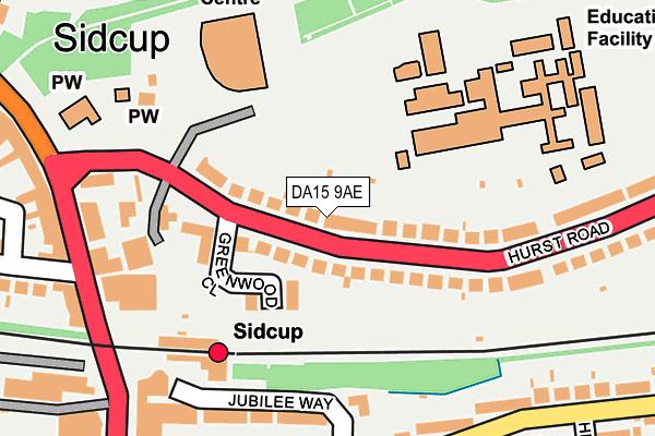 DA15 9AE map - OS OpenMap – Local (Ordnance Survey)