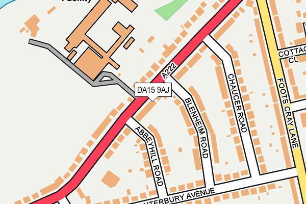 DA15 9AJ map - OS OpenMap – Local (Ordnance Survey)