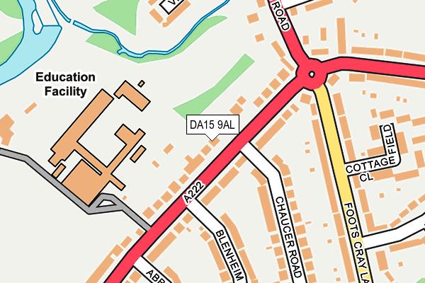 DA15 9AL map - OS OpenMap – Local (Ordnance Survey)