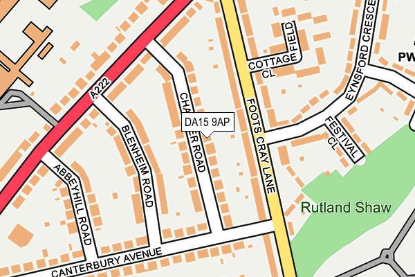 DA15 9AP map - OS OpenMap – Local (Ordnance Survey)
