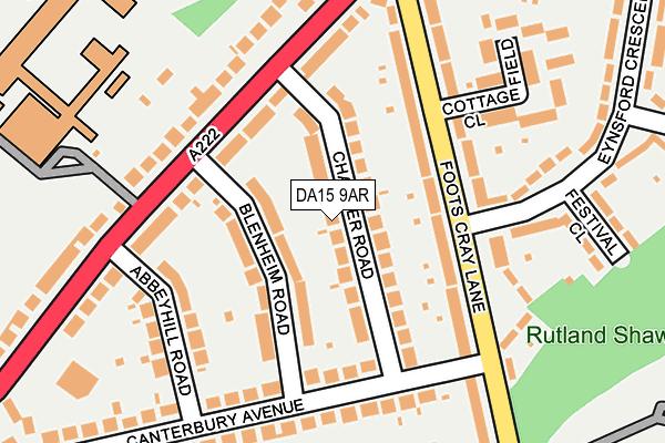 DA15 9AR map - OS OpenMap – Local (Ordnance Survey)