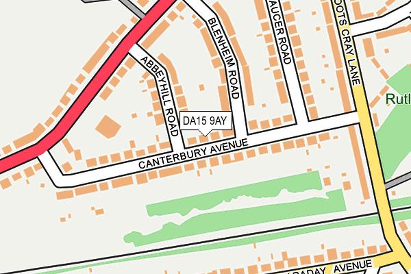 DA15 9AY map - OS OpenMap – Local (Ordnance Survey)