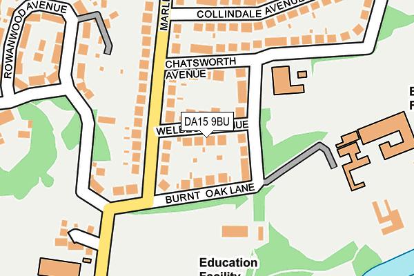 DA15 9BU map - OS OpenMap – Local (Ordnance Survey)