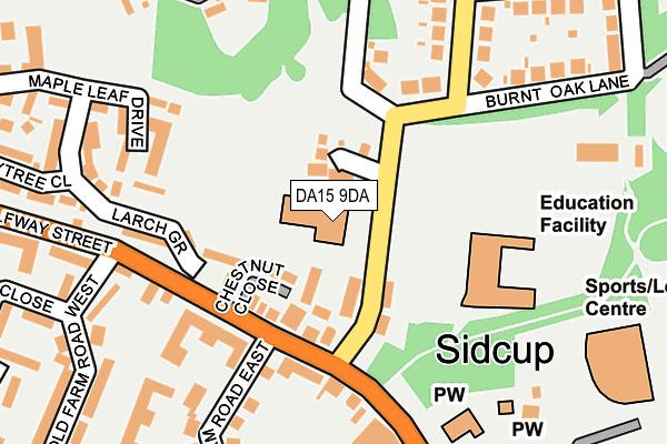 DA15 9DA map - OS OpenMap – Local (Ordnance Survey)