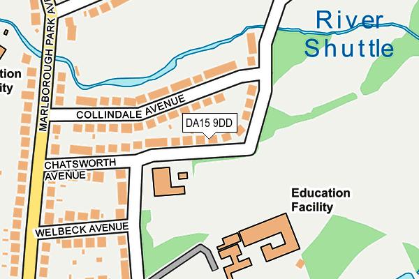DA15 9DD map - OS OpenMap – Local (Ordnance Survey)