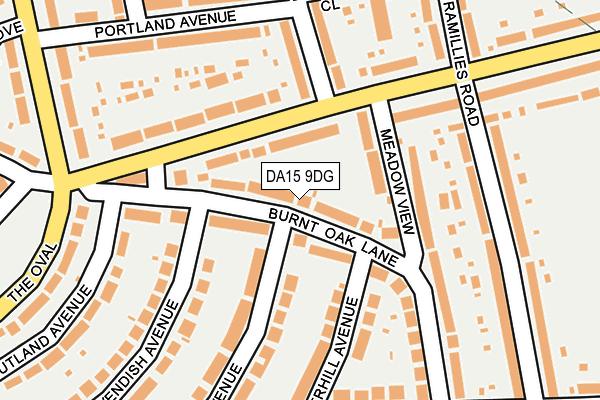 DA15 9DG map - OS OpenMap – Local (Ordnance Survey)