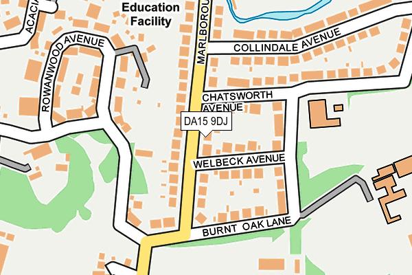DA15 9DJ map - OS OpenMap – Local (Ordnance Survey)