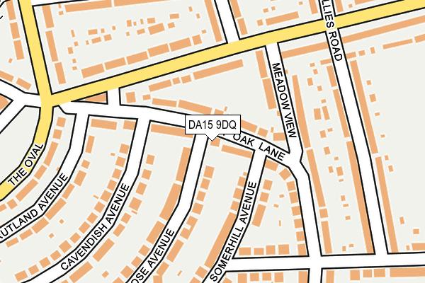 DA15 9DQ map - OS OpenMap – Local (Ordnance Survey)